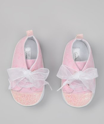 Pink Sequin Ribbon Sneaker
