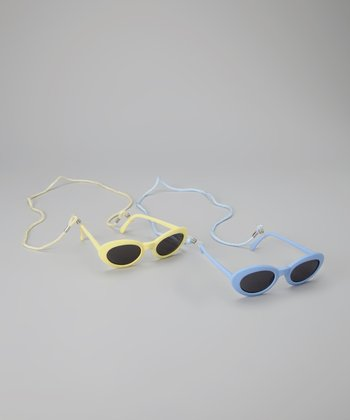 Yellow & Blue Sunglasses Set