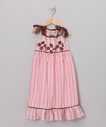 Rose Stripe Dress - Infant, Toddler & Girls