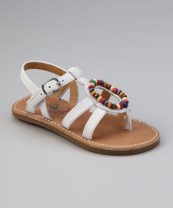 White & Yellow Lil Aquarius Sandal