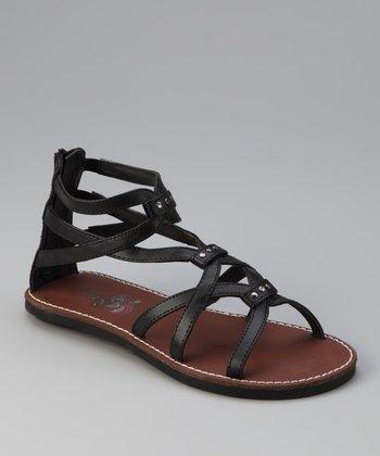 Black Boca Gladiator Sandal