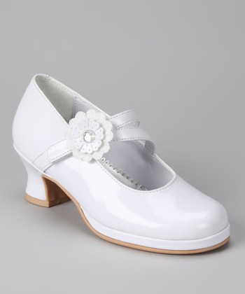 White Patent Katherine Mary Jane Pump