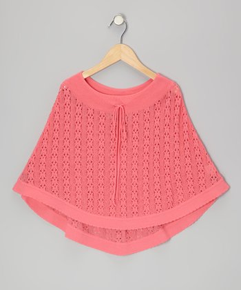 French Pink Knit Poncho