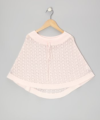 Light Pink Knit Poncho