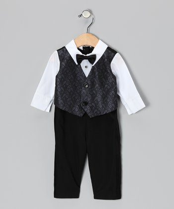 Black Tux Bodysuit & Vest - Infant