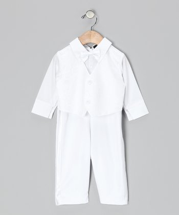 White Tux Bodysuit & Vest - Infant