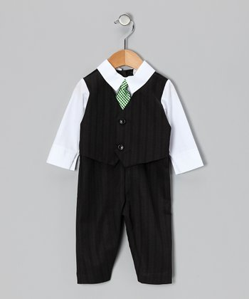 Black & White Suit Bodysuit - Infant