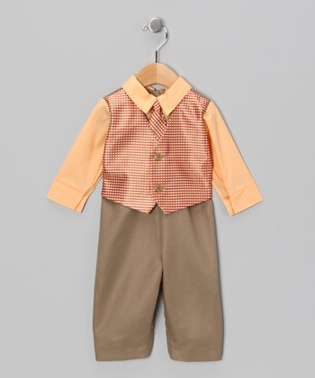 Orange & Driftwood Suit Bodysuit - Infant