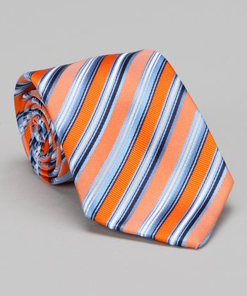 Orange & Blue Stripe Tie