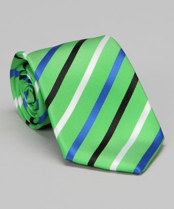 Green & Blue Stripe Tie