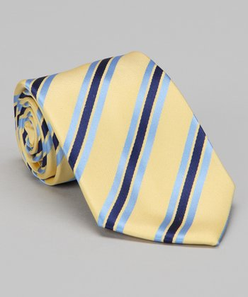 Yellow & Blue Stripe Tie