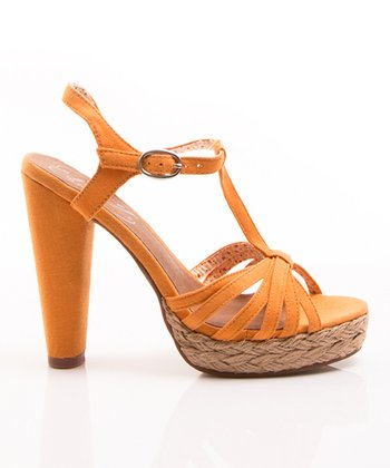 Yellow Be Easy T-Strap Sandal