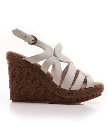 White Bio Dome Wedge Sandal
