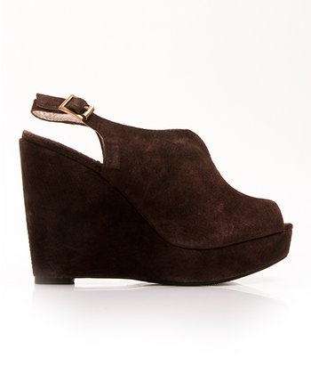 Brown Suede Foxy Wedge