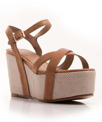 Cognac Leather Holy Grail Sandal
