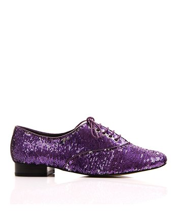 Purple Sequin Salsa Oxford