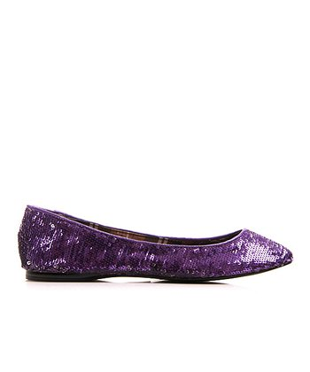 Purple & Silver Watermelon Sequin Flat
