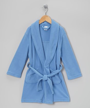 Blue Microfleece Robe - Toddler