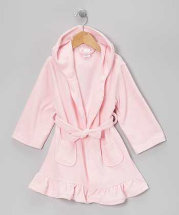 Pink Microfleece Robe - Toddler