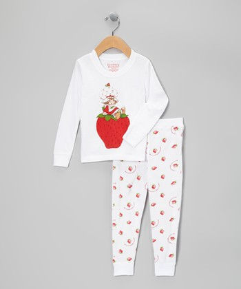 White & Red Strawberry Shortcake Pajama Set - Infant & Toddler