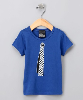 Cobalt Blue Emo Tie Tee - Infant & Toddler