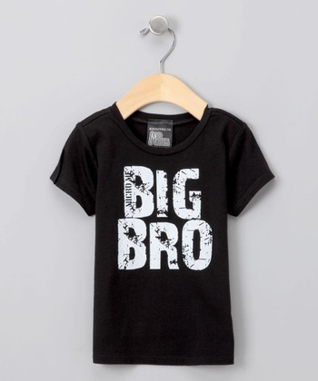 Black 'Big Bro' Tee - Toddler
