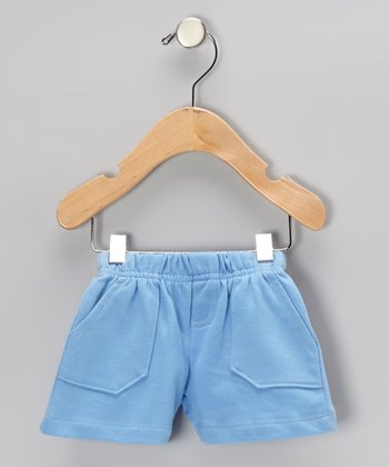 New Blue Terry Shorts - Infant