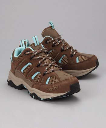 Dark Sand & Aqua Trailmaster Jr. All-Terrain Shoe - Kids