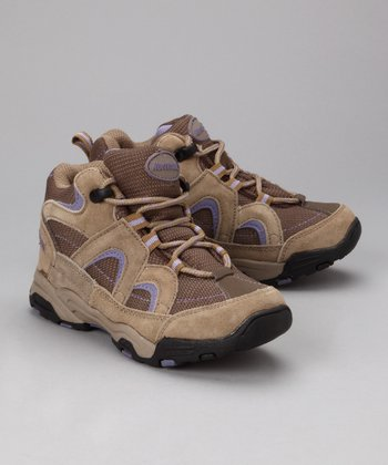Tan & Lilac Tetris All-Terrain Shoe - Kids