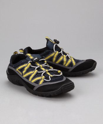 Blue & Yellow Brille Beach Runner Shoe - Kids