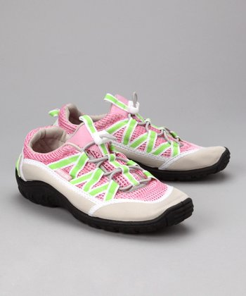 Pink & Lime Brille Beach Runner Shoe - Kids