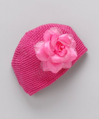 Hot Pink Crocheted Beanie
