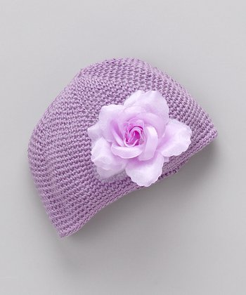 Purple Crocheted Beanie