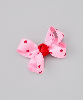 Pink & Red Heart Clip