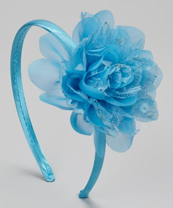 Turquoise Lace Flower Headband