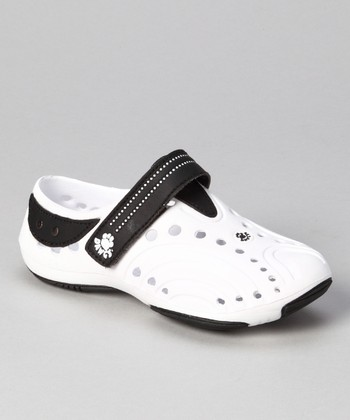 White & Black Premium Spirit Shoe - Girls