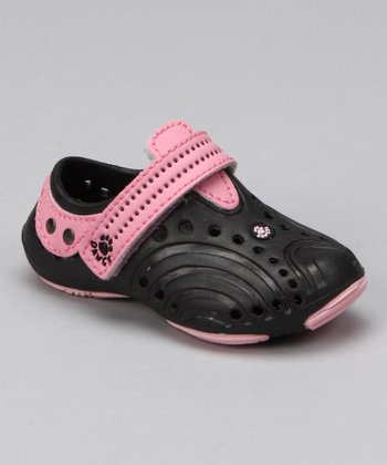 Black & Soft Pink Premium Spirit Shoe - Infant & Toddler