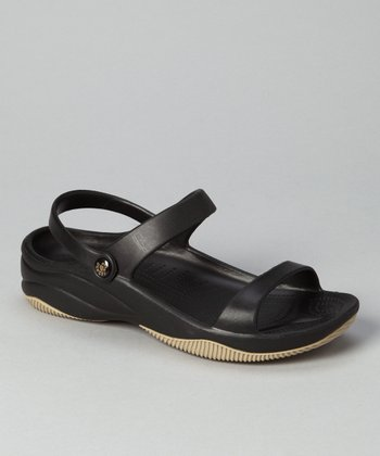 Black & Tan Triple-Strap Sandal