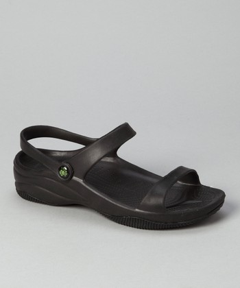 Black Triple-Strap Sandal - Women