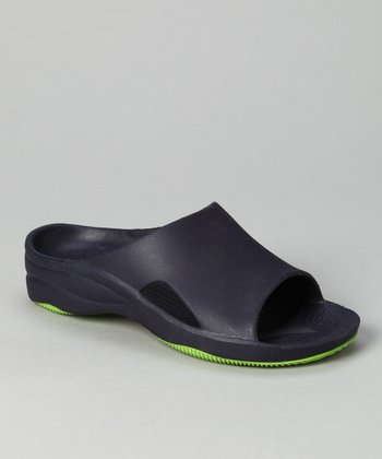 Navy & Lime Green Slide