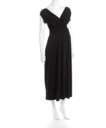 Black Victoria Maternity Maxi Dress