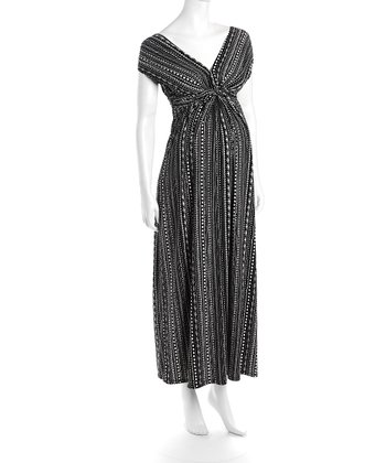 Black & White Victoria Maternity Maxi Dress