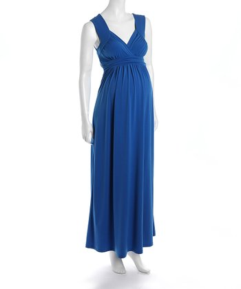 Blue Athenia Maternity Maxi Dress