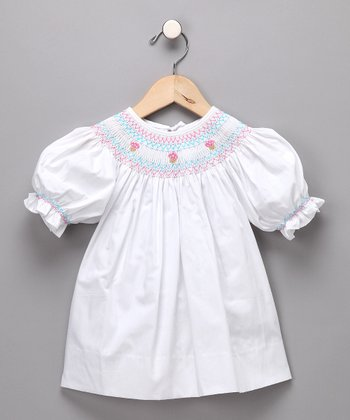 White Ice Cream Bishop Top - Toddler & Girls