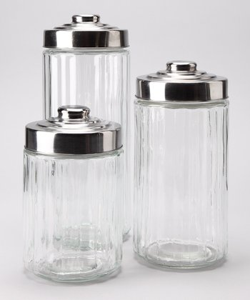Round Canister Jar Set