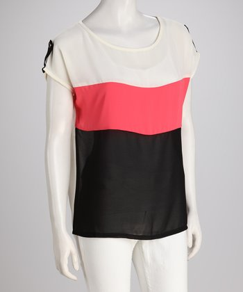 Watermelon Color Block Top