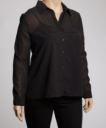 Black Button-Up - Plus