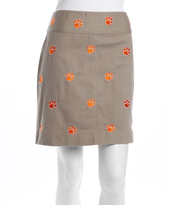 Khaki Clemson Stadium Skirt - Women
