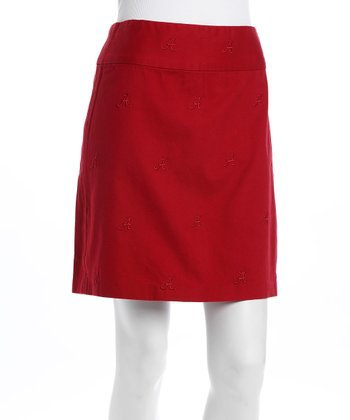 Crimson Alabama Stadium Skirt - Women