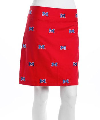 Red Mississippi Stadium Skirt - Women
